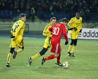 Metalist - Debreceni UEFA football match Royalty Free Stock Photography