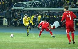 Metalist - Debreceni UEFA-Fußbalabgleichung Stockfotos