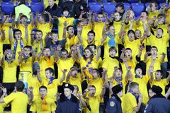 Metalist fans support their team Royalty Free Stock Photography