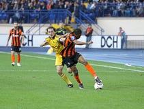 Metalist Kharkiv εναντίον του αγώνα ποδοσφαίρου Shakhtar Στοκ Εικόνες