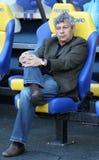 Metalist Kharkiv contra o fósforo de futebol de Shakhtar Imagem de Stock Royalty Free