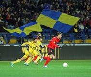 Metalist Kharkiv contre la correspondance de Bayer Leverkusen Photos stock