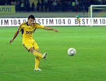 Metalist Kharkiv contre le match de football de Shakhtar Image libre de droits