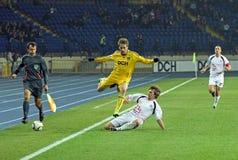 Metalist Kharkiv contre le match de football de Volyn Lutsk Images libres de droits
