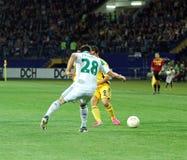 Metalist Kharkiv contre le match de football rapide de Wien Image libre de droits