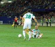 Metalist Kharkiv contre le match de football rapide de Wien Photographie stock