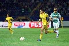 Metalist Kharkiv contre le match de football rapide de Wien Images libres de droits