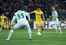 Metalist Kharkiv contre le match de football rapide de Wien Photo libre de droits