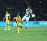 Metalist Kharkiv contre le match de football rapide de Wien Photos stock