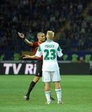 Metalist Kharkiv contre le match de football rapide de Wien Photographie stock libre de droits