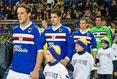 Metalist Kharkiv contro Sampdoria Genova fotografia stock