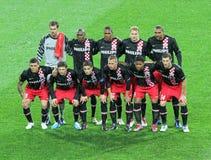 Metalist Kharkiv gegen PSV Eindhoven lizenzfreie stockbilder