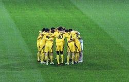 Metalist Kharkiv gegen PSV Eindhoven lizenzfreie stockfotografie