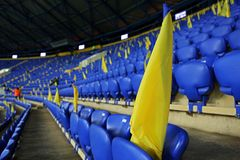 Metalist Kharkiv stadium ready to host football match Stock Image