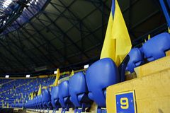 Metalist Kharkiv stadium ready to host football match Royalty Free Stock Image