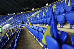 Metalist Kharkiv stadium ready to host football match Stock Photography