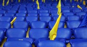 Metalist Kharkiv stadium ready to host football match Royalty Free Stock Photos
