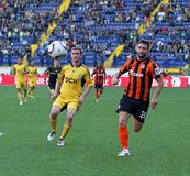 Metalist Kharkiv versus Shakhtar voetbalgelijke Stock Foto's