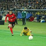 Metalist Kharkiv vs Bayer Leverkusen match Royalty Free Stock Images