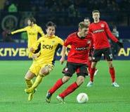 Metalist Kharkiv vs Bayer Leverkusen match Royalty Free Stock Photo