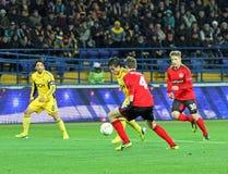 Metalist Kharkiv vs Bayer Leverkusen match Stock Photo