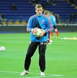 Metalist Kharkiv vs Bayer Leverkusen match Royalty Free Stock Photos