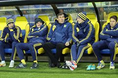 Metalist Kharkiv vs Bayer Leverkusen match Stock Image