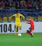 Metalist Kharkiv vs Bayer Leverkusen match Stock Photos