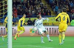 Metalist Kharkiv vs Bayer Leverkusen match Stock Photography