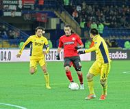 Metalist Kharkiv vs Bayer Leverkusen match Stock Photography