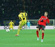 Metalist Kharkiv vs Bayer Leverkusen match Royalty Free Stock Image