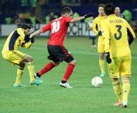 Metalist Kharkiv vs Bayer Leverkusen match Stock Image