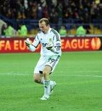 Metalist Kharkiv vs Bayer Leverkusen match Royalty Free Stock Image