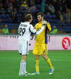 Metalist Kharkiv vs Bayer Leverkusen match Royalty Free Stock Photo