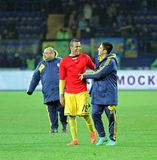 Metalist Kharkiv vs Bayer Leverkusen match Royalty Free Stock Photography