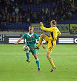 Metalist Kharkiv vs Obolon Kyiv football match Royalty Free Stock Photo