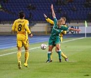 Metalist Kharkiv vs Obolon Kyiv football match Royalty Free Stock Image