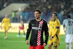 Metalist Kharkiv vs. PSV Eindhoven Royalty Free Stock Photos