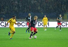 Metalist Kharkiv vs. PSV Eindhoven Stock Image