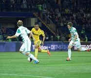 Metalist Kharkiv vs Rapid Wien football match Royalty Free Stock Photography
