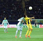 Metalist Kharkiv vs Rapid Wien football match Stock Photo