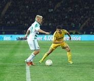 Metalist Kharkiv vs Rapid Wien football match Royalty Free Stock Photo