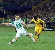 Metalist Kharkiv vs Rapid Wien football match Royalty Free Stock Photos
