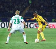 Metalist Kharkiv vs Rapid Wien football match Stock Images