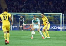 Metalist Kharkiv vs Rapid Wien football match Stock Photos
