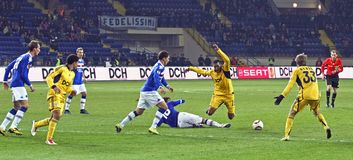 Metalist Kharkiv vs. Sampdoria Genoa Royalty Free Stock Photography