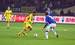 Metalist Kharkiv vs. Sampdoria Genoa Royalty Free Stock Photography