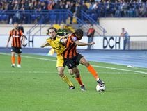 Metalist Kharkiv vs Shakhtar football match Stock Photo