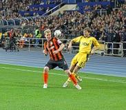 Metalist Kharkiv vs Shakhtar football match Stock Image