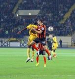 Metalist Kharkiv vs Shakhtar football match Stock Photo